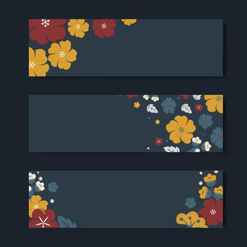 Bunter Blumenkartenschablonensatz