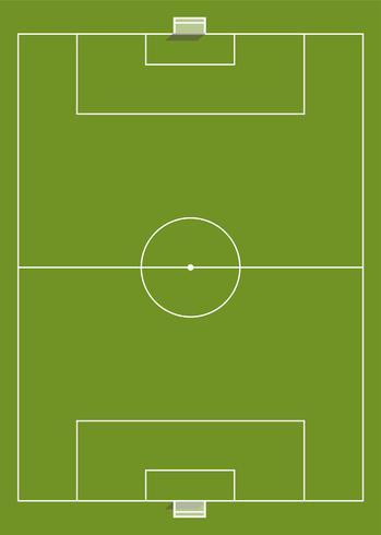 Vista aérea, de, um, campo futebol