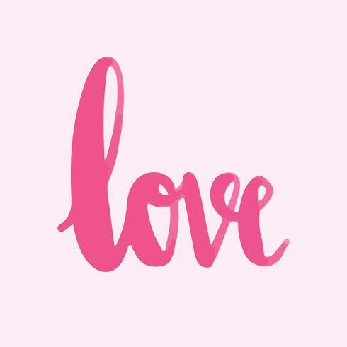 Le vecteur de typographie mot amour