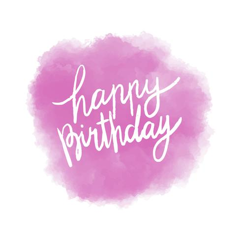 Grattis på födelsedagen typografi vektor i lila