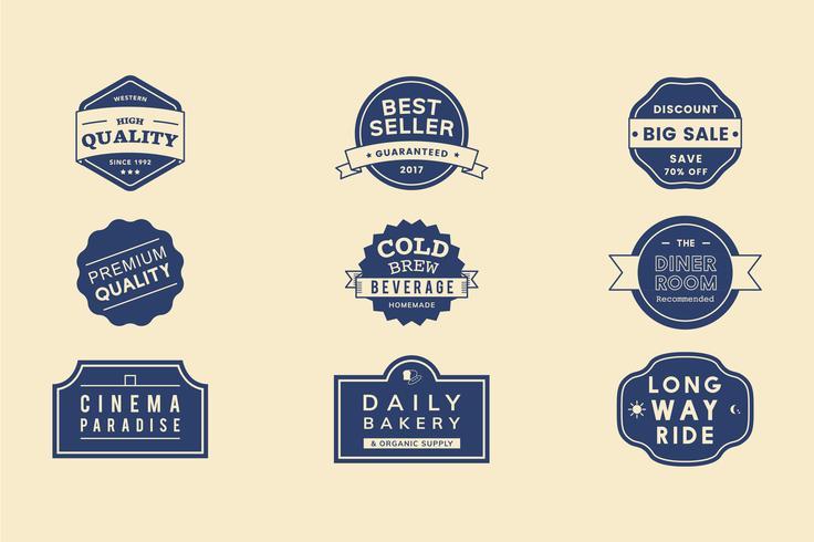 Illustration set of vector emblem label