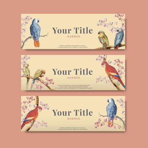 Parrot design collection