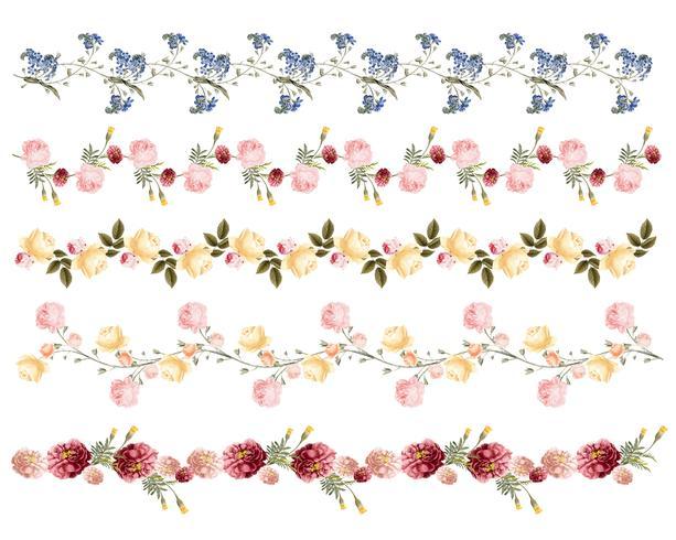 Hand gezeichnetes buntes Blumenmuster