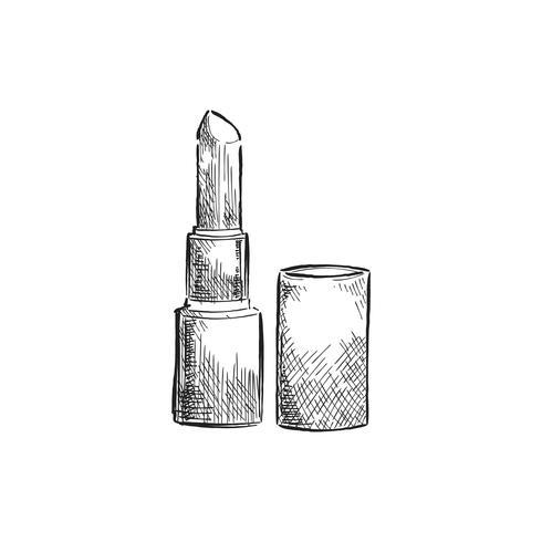 Vintage illustration av en läppstift