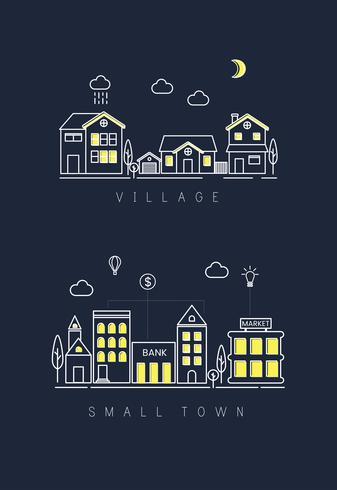 Illustration av stadsbyggnader