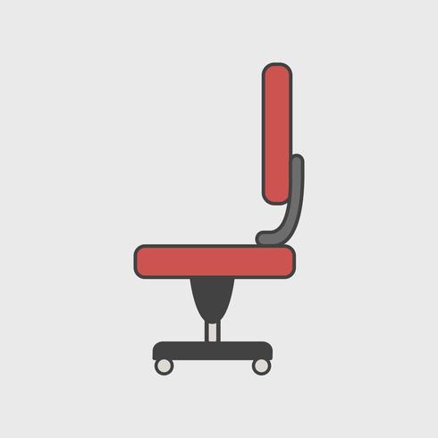 Illustrazione dell'icona di sedia da ufficio