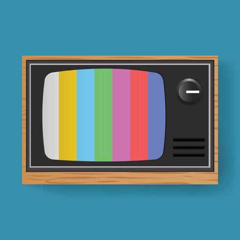 Retro vettore dell'illustrazione dell'icona di media di spettacolo di TV della televisione