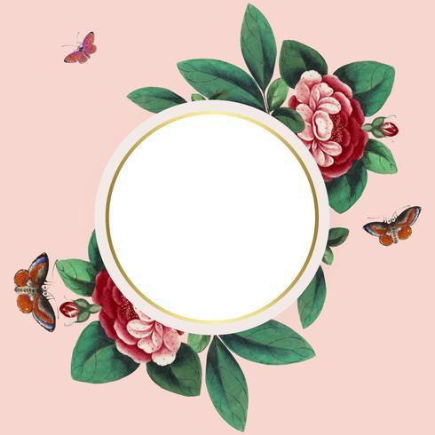 Die chinesische Malerei, die Kreis kennzeichnet, leeren Kreisrahmenvektor