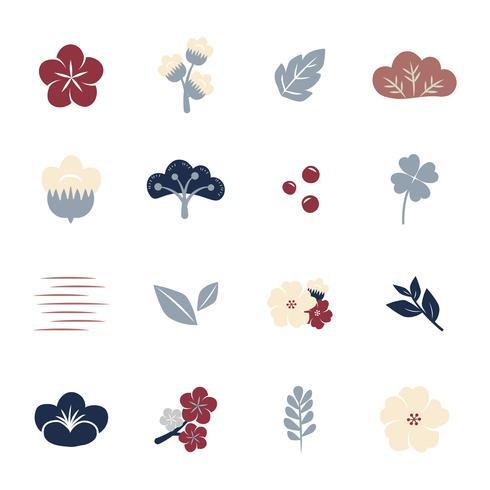 Bunte Blumen eingestellt
