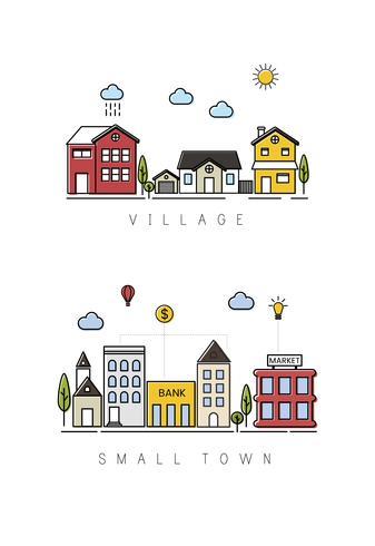 Ilustración de edificios de la ciudad