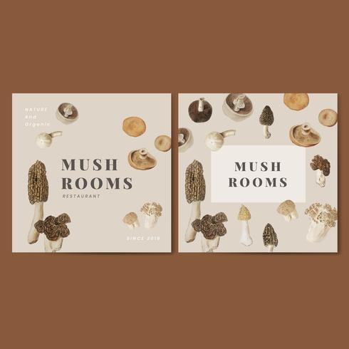 Ensemble d'affiches de champignons