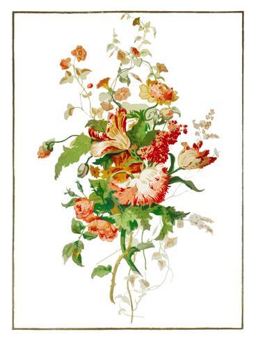 Tapeçarias de papel das artes industriais do século XIX (1851-1853) por Sir Matthew Digby Wyatt (1820-1877). Digitalmente aprimorada pelo rawpixel.