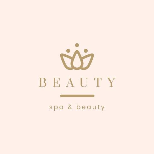 Bellezza e spa logo vettoriale