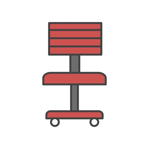 Illustration of office chair icon