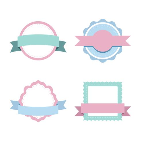 Set di vettori di design distintivo pastello
