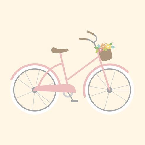 Illustration d'un vélo girly