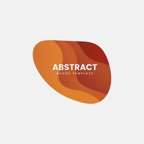 Modello astratto distintivo in arancione