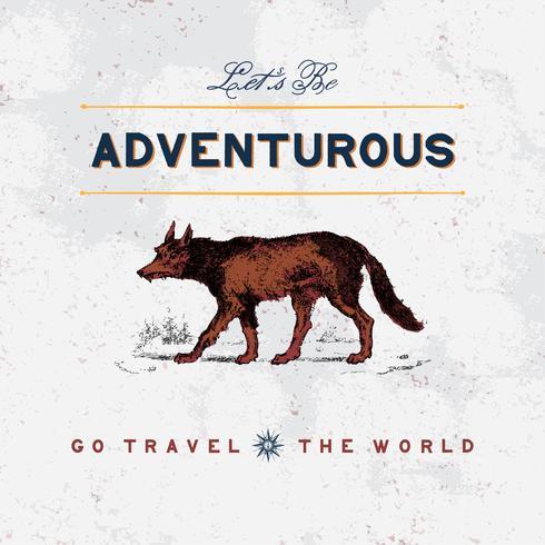 Vecteur de conception de logo de voyage aventureux