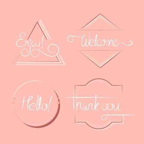 Set of typography badges vector