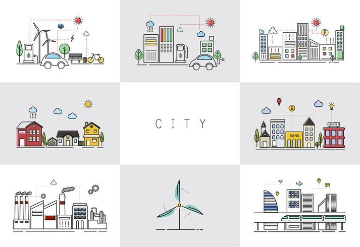 Eco freundlicher Stadtvektor