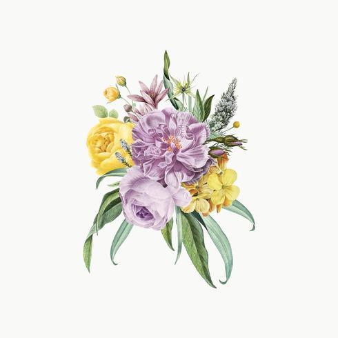Lila blommabukett