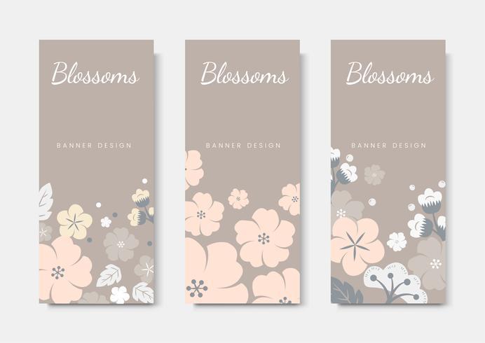Färgrik blom kortmalluppsättning