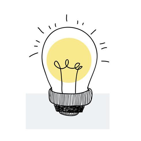 Lightbulb ikon doodle