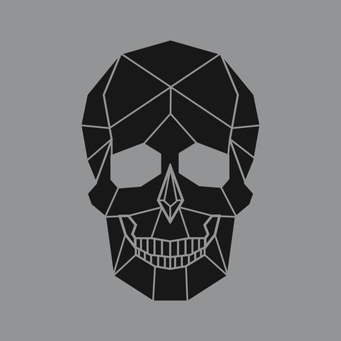 Lineaire illustratie van een schedel