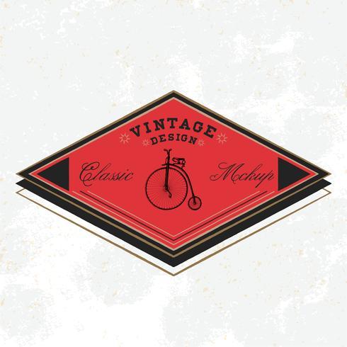 Vetor de design de logotipo de maquete clássico