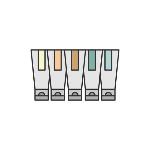 Samling av vattenfärg eller akrylfärg