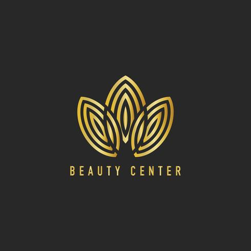 Beauty center branding logo illustration