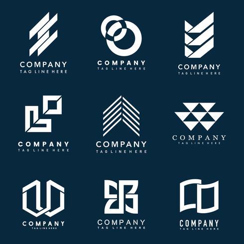 Insieme del vettore di idee di progettazione di logo della società