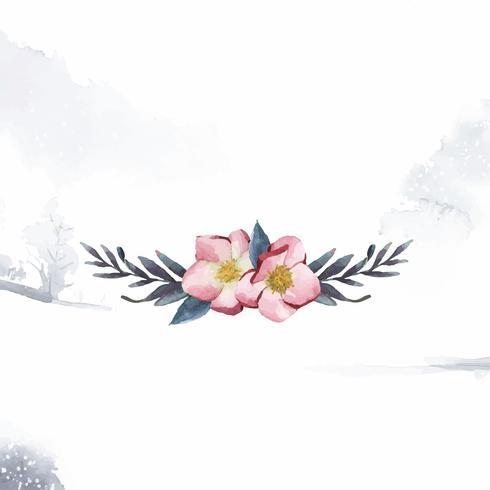 Hellebore blommor målad med vattenfärg vektor