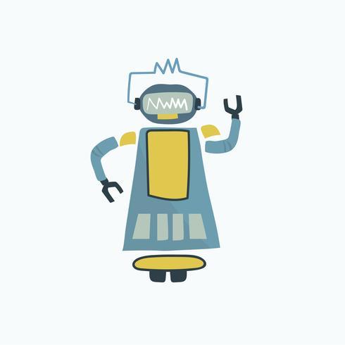 Illustration av robot vektor grafik