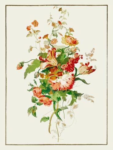 Papierversieringen uit de industriële kunst van de negentiende eeuw (1851-1853) van Sir Matthew Digby Wyatt (1820-1877). Digitaal verbeterd door rawpixel.