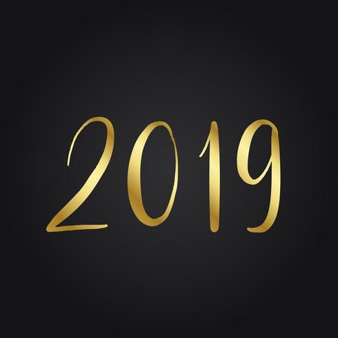 2019 golden typography