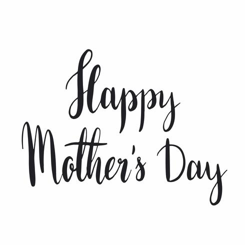 Happy mother's day typography style vector