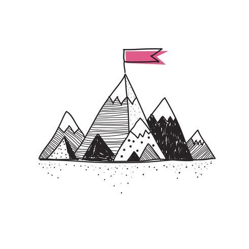 Doodle de montaña de éxito