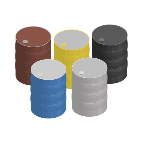Metall flytande behållare isolerad på bakgrunden
