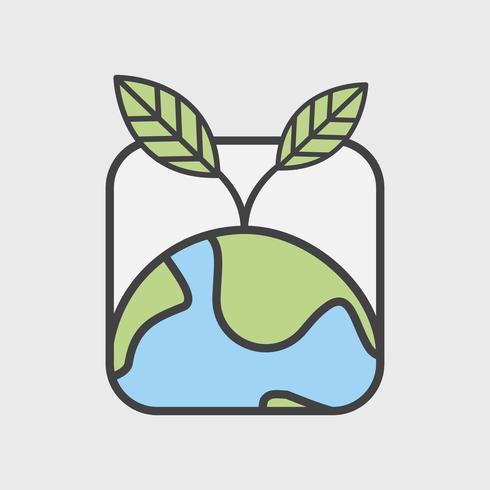 Illustration uppsättning miljö vektor