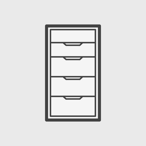 Abbildung der Büroschrankikone