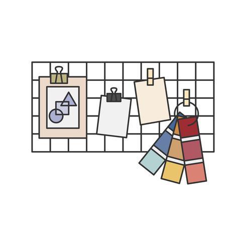 Farbschema und Farbfelder künstlerische Tafel