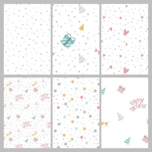 Conjunto de vetores de padrão de bolinhas coloridas