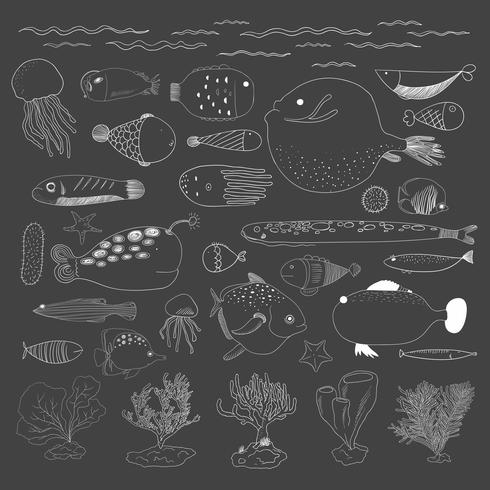 Vektor der Unterwasserwesen