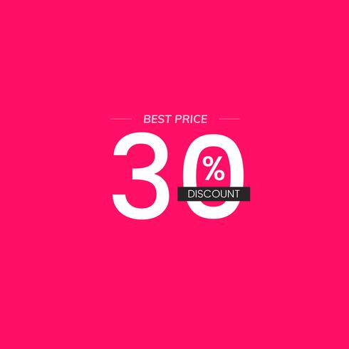 Mejor precio 30% descuento signo vector