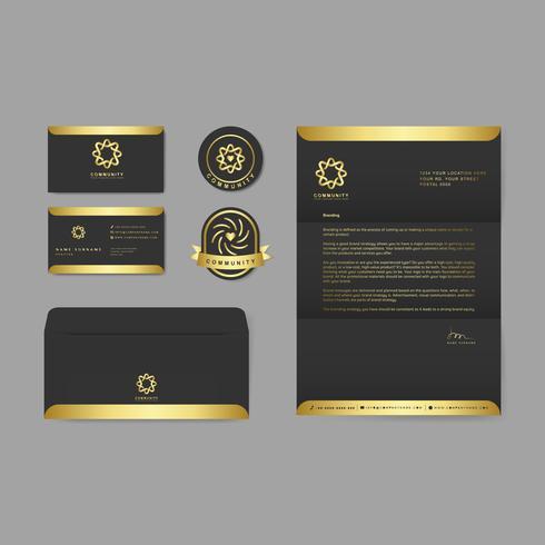 Modelos de publicação de logotipos de marca da empresa