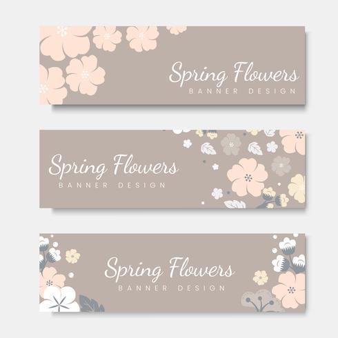 Insieme di modelli di carta di fiori colorati vettore