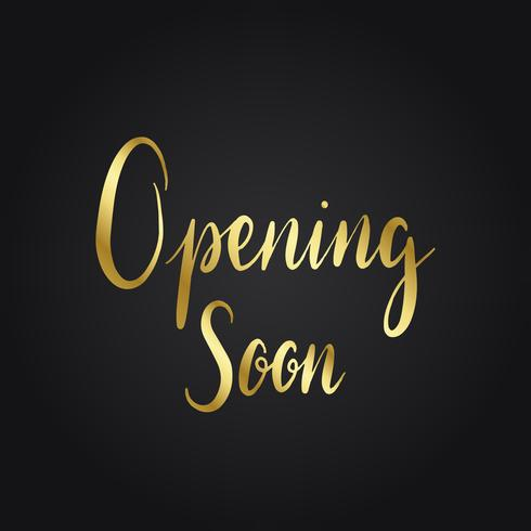 Opening soon typography style vector