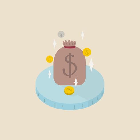 Abbildung einer Tasche des Geldes