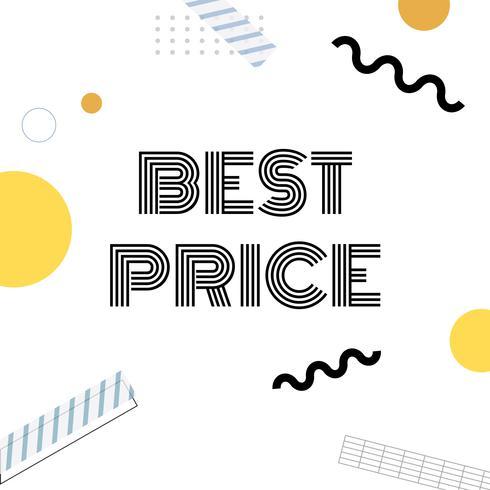 Beste prijs promotie aankondigingsvector